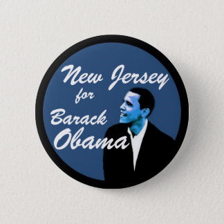 New Jersey for Barack Obama 2 Inch Round Button