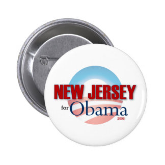 NEW JERSEY for Obama 2 Inch Round Button