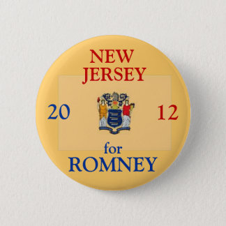 New Jersey for Romney 2012 2 Inch Round Button