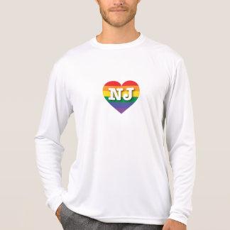 New Jersey Gay Pride Rainbow Heart - Big Love T-Shirt