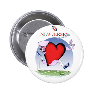 new jersey head heart, tony fernandes 2 inch round button