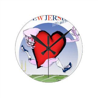 new jersey head heart, tony fernandes round clock