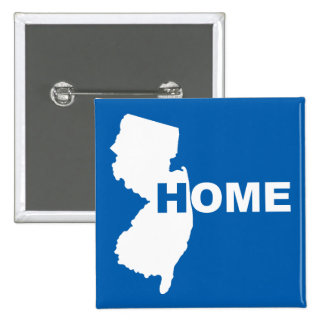 New Jersey Home Away From State Button Badge Pin