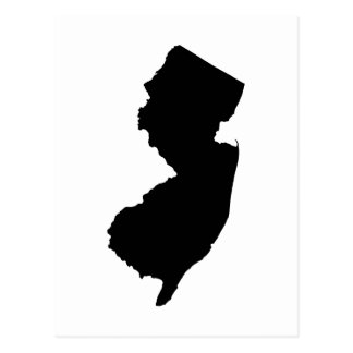 New Jersey in Black and White Postcard