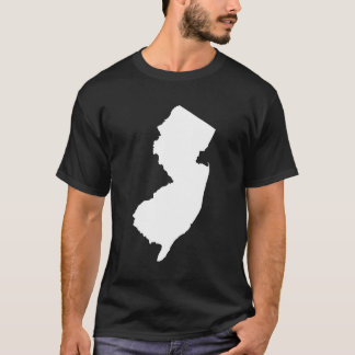 New Jersey in White and Black T-Shirt