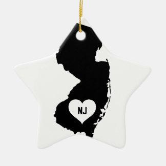 New Jersey Love Ceramic Ornament