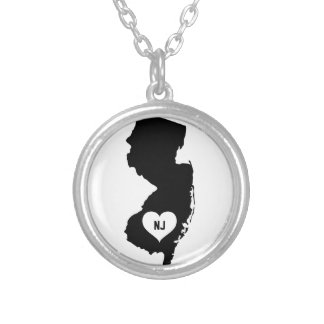 New Jersey Love Silver Plated Necklace