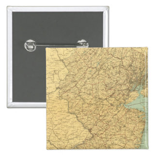 New Jersey Map 2 Inch Square Button