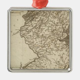 New Jersey Map by Arrowsmith Metal Ornament