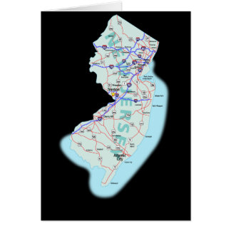 New Jersey Map Card