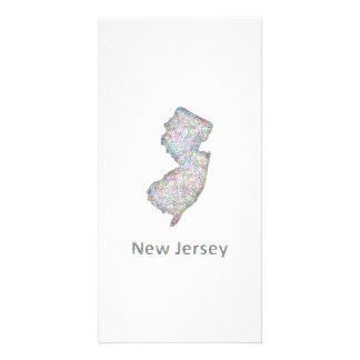 New Jersey map Custom Photo Card