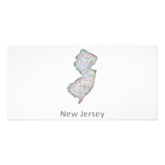 New Jersey map Photo Cards