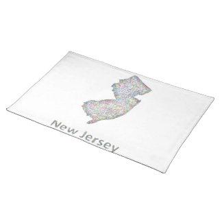 New Jersey map Place Mat