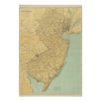 New Jersey Map Poster