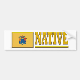 New Jersey Native Bumper Sticker