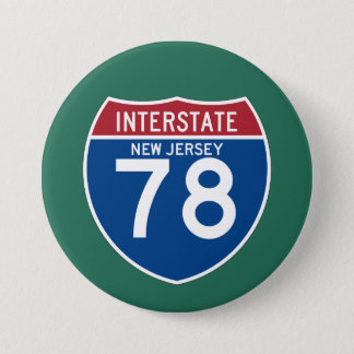 New Jersey NJ I-78 Interstate Highway Shield - 3 Inch Round Button