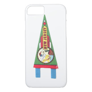 New Jersey NJ Souvenir Pennant Cell Phone Case
