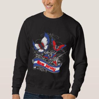 New Jersey Patriotism Butterfly Sweatshirt