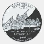New Jersey Quarter Classic Round Sticker