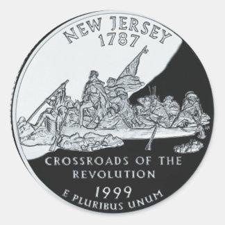 New Jersey Quarter Round Sticker