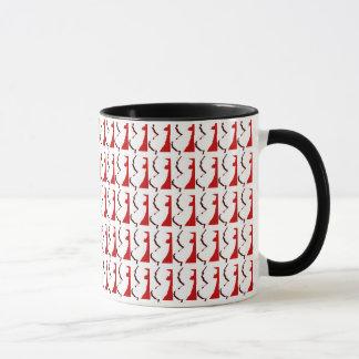 New Jersey Red and Black Ringer Mug