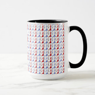 New Jersey Red, White & Blue Ringer Mug