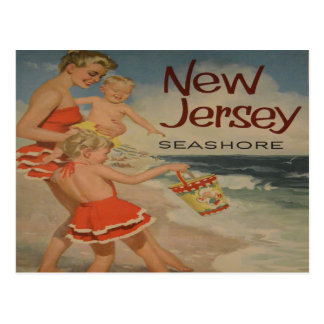 new jersey shore vintage tourist vacation postcard