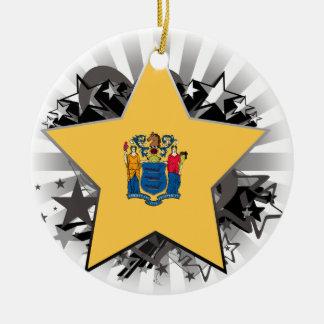 New Jersey Star Ceramic Ornament