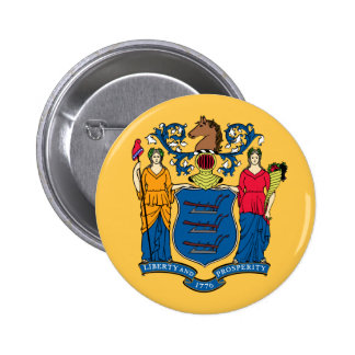 New Jersey State Flag 2 Inch Round Button