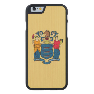 New Jersey State Flag Carved Maple iPhone 6 Case