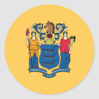 New Jersey State Flag Classic Round Sticker