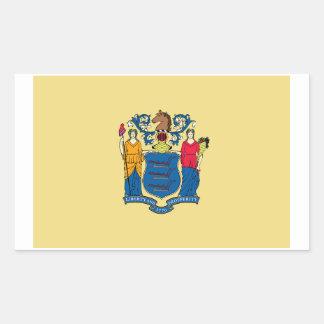 New Jersey State Flag Sticker - 4 per sheet
