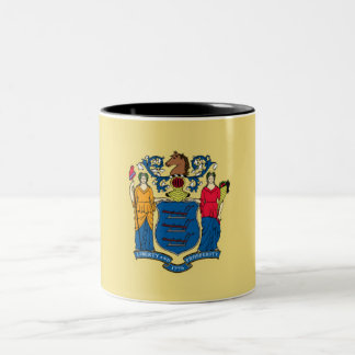 New Jersey State Flag Two-Tone Coffee Mug