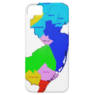 New Jersey State Map Colorful iPhone 5 Cases
