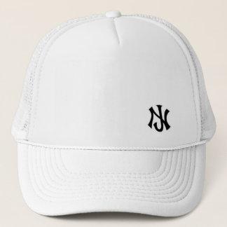 New Jersey trucker all white Trucker Hat