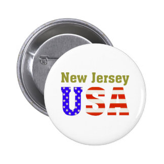 New Jersey USA! 2 Inch Round Button