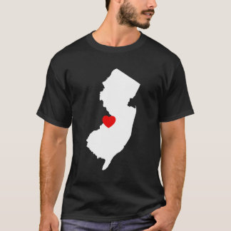 New Jersey with Red Heart T-Shirt