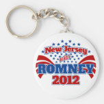 New Jersey with Romney 2012 Basic Round Button Keychain