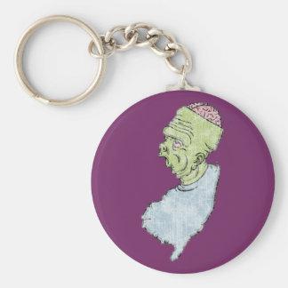 New Jerseystein Basic Round Button Keychain