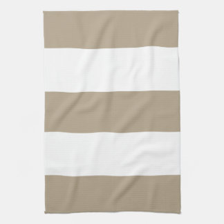 New Khaki & White Stripe Kitchen Towel Gift