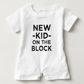 New Kid on the Block funny new baby boy shirt