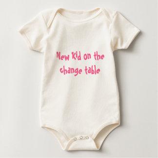 New Kid on the change table Baby Bodysuit