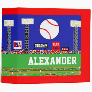 New Kids Baseball Binder Personalized Sports Gift