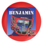 New Kids Football Plate Personalized Sports Gift