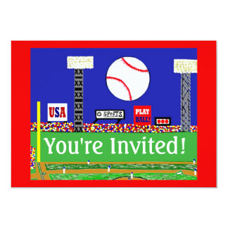 New Kids Sport Baseball Birthday Party Invitation