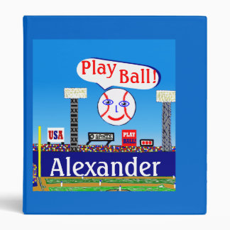 New Kids Sports Baseball Personalized Binder