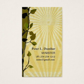 New Life Church Cross Faith Gold Sun Rays Business Card