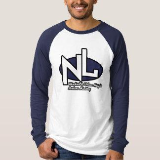 New Life Lg. Sleeve White & Navy Tee