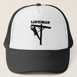 new lineman blackout big, LINEMAN Trucker Hat