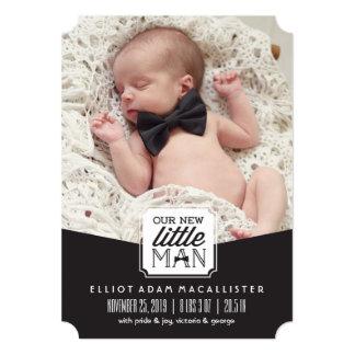 New Little Man Bow Tie Photo Birth Announcement